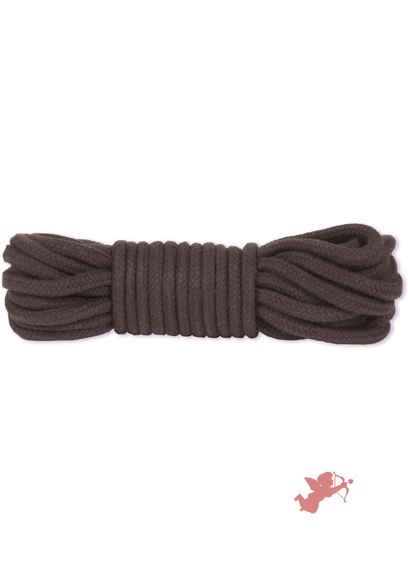 Black Cotton Bondage Rope