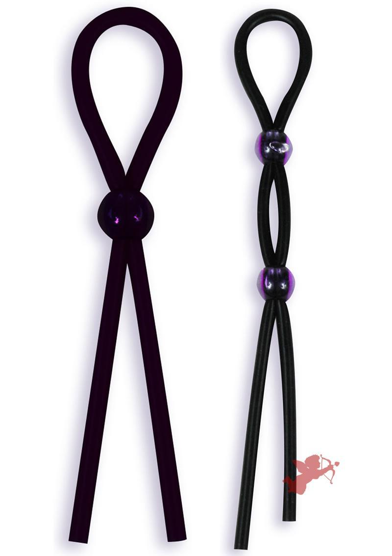 Silicone Cock Tie and C/b Tie - Black