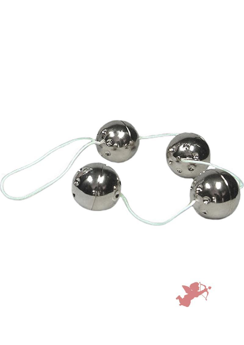 Ben Wa Balls On A String Silver