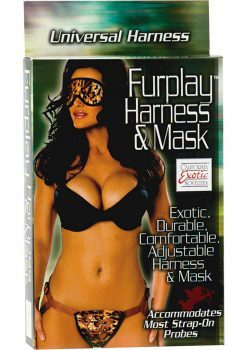 Furplay Harness and Mask - Brown Tiger