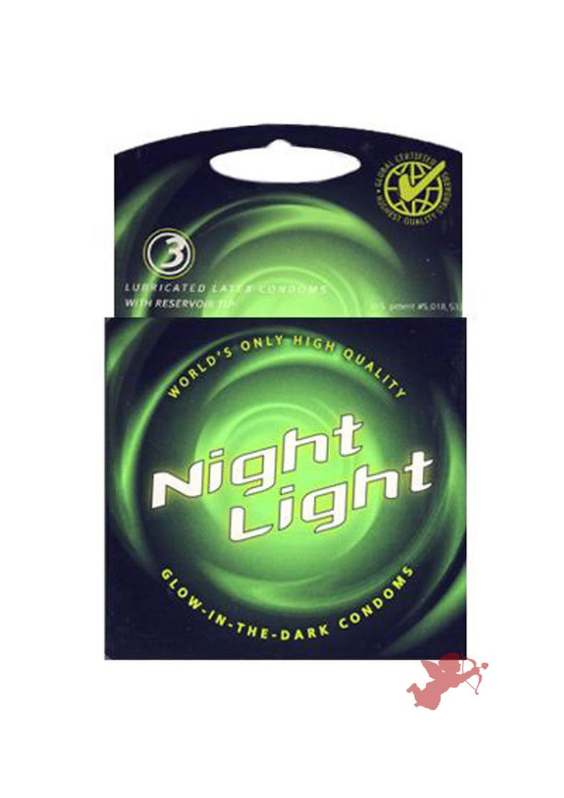 Night Light Condoms 3`s