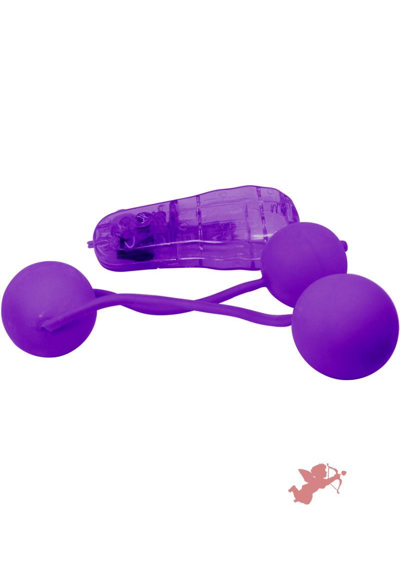 Real Skin Vibe Ben Wa Balls - Purple