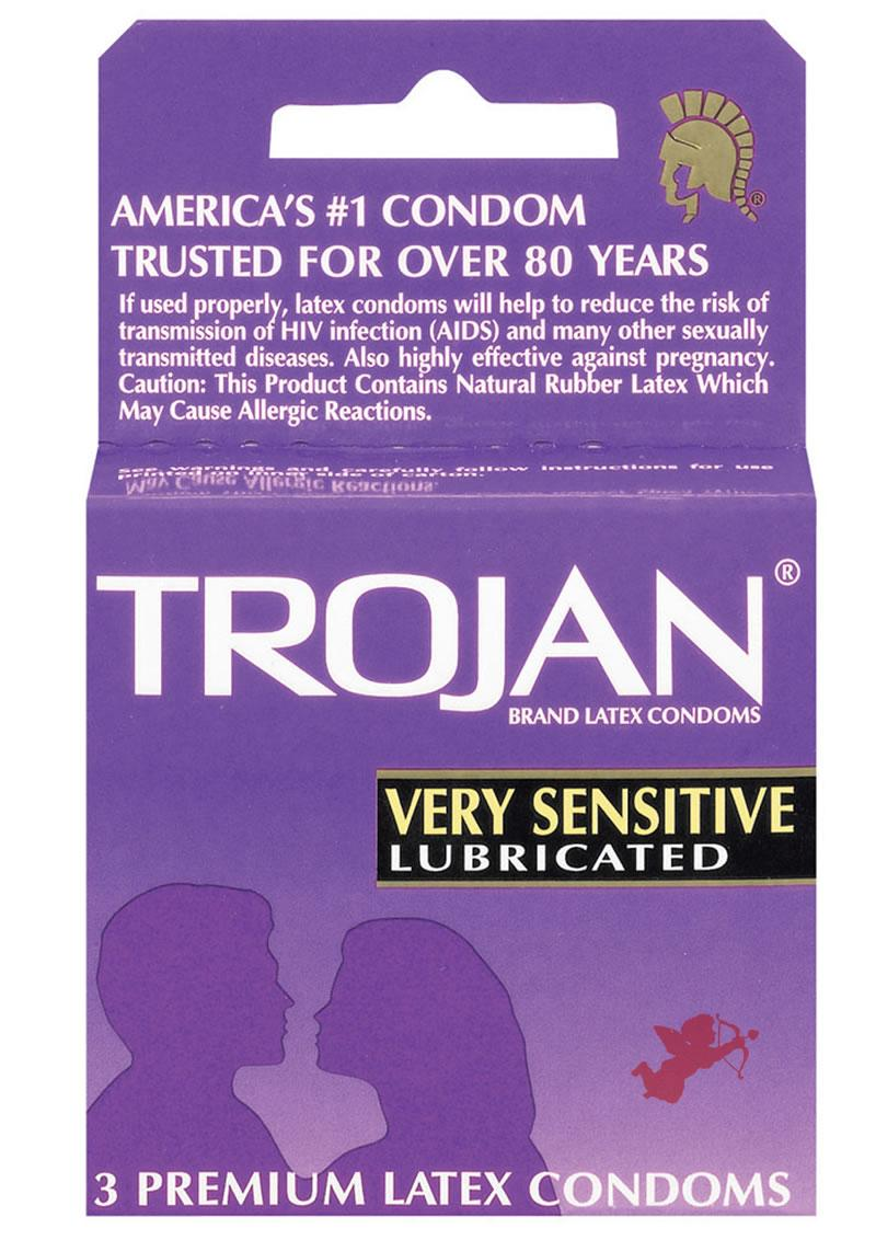 Trojan Very Sensitive 3`s