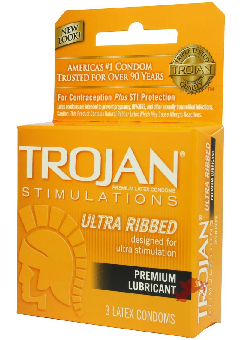 Trojan Ultra Ribbed 3`s