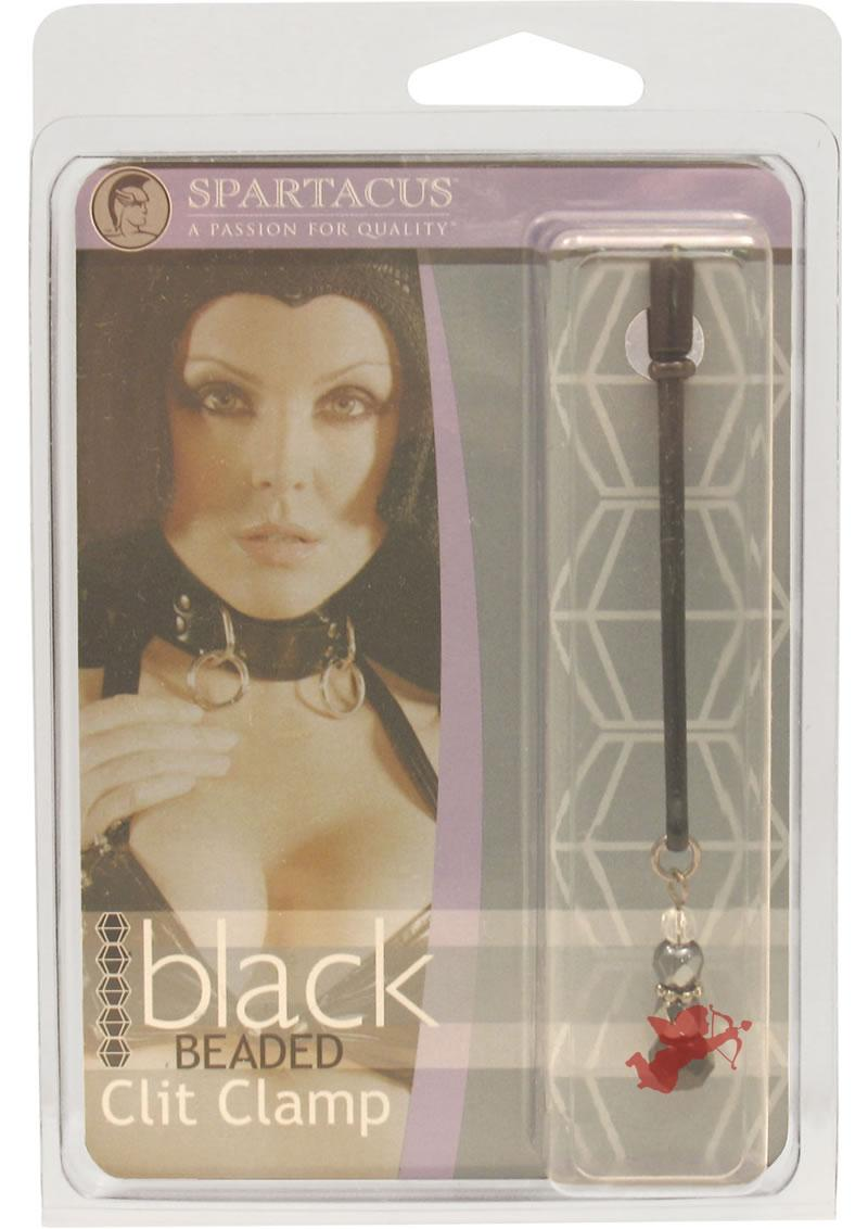 Beaded Clit Clamp - Black