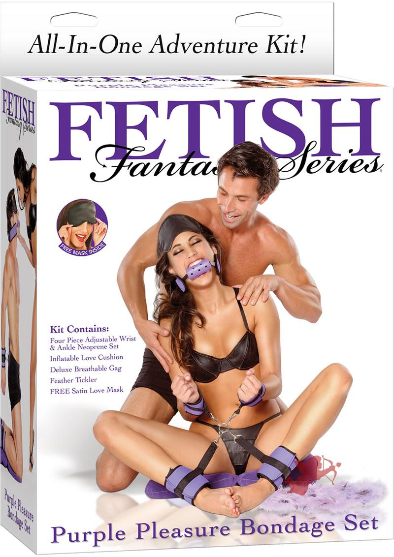 Fetish Fantasy Purple Pleausure Bondage Set