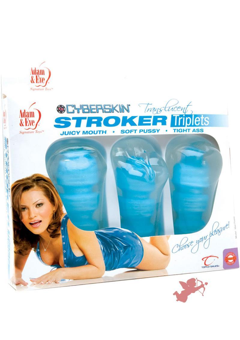 Cyberskin Translucent Stroker Triplets