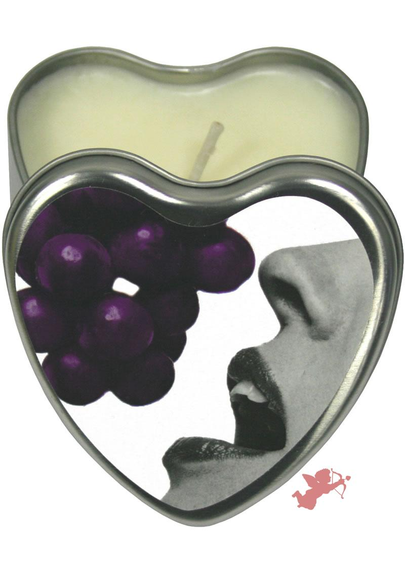 Edible Heart Candle Grape