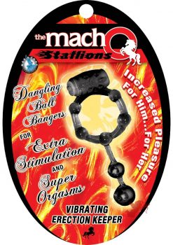 Macho Stallions Vibrting Erection Keeper Black