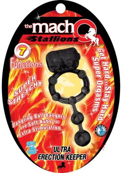 Macho Stallions Ultra Erection Keeper Black