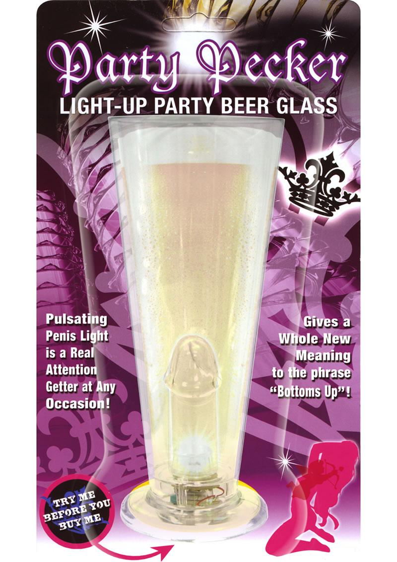 Party Pecker Light Glass Clear