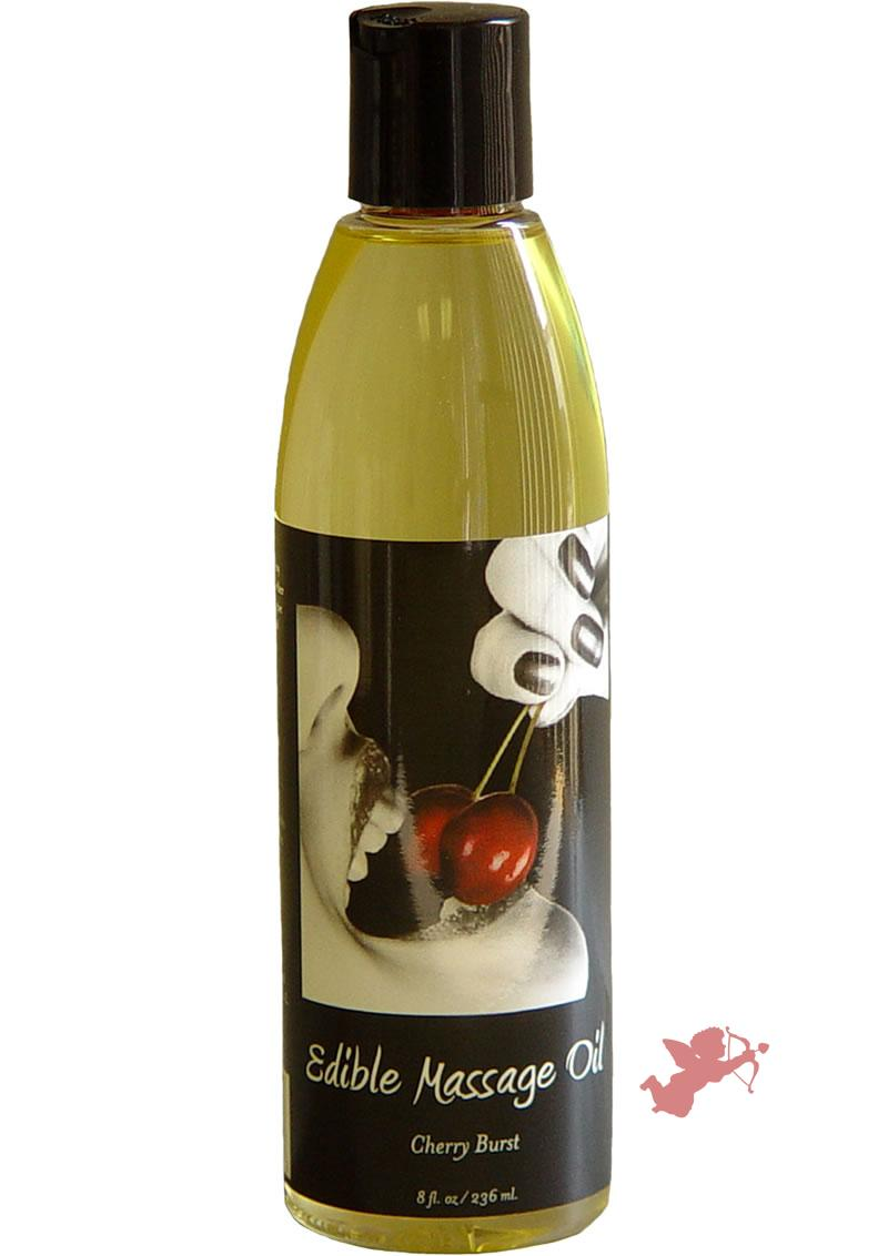 Edible Massage Oil Cherry Burst 8 Ounce