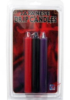 Japanese Drip Candles Assorted Colors 3 Per Pack