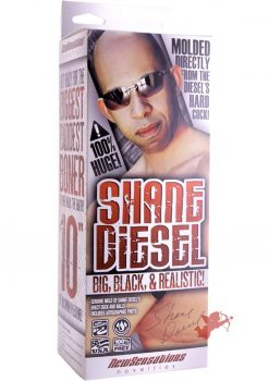 Shane Diesel Big Black And Realistic 10 Inch Brown