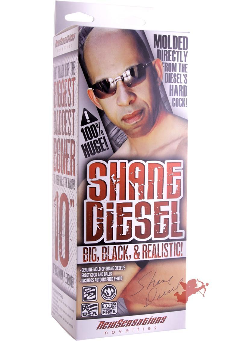 Shane Diesel Big Black And Realistic 10 Inch Brown