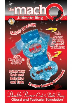 Macho Double Power Ring Blue