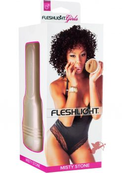 Fleshlight Girls Misty Stones Lotus Vagina Textured Masturbator Brown