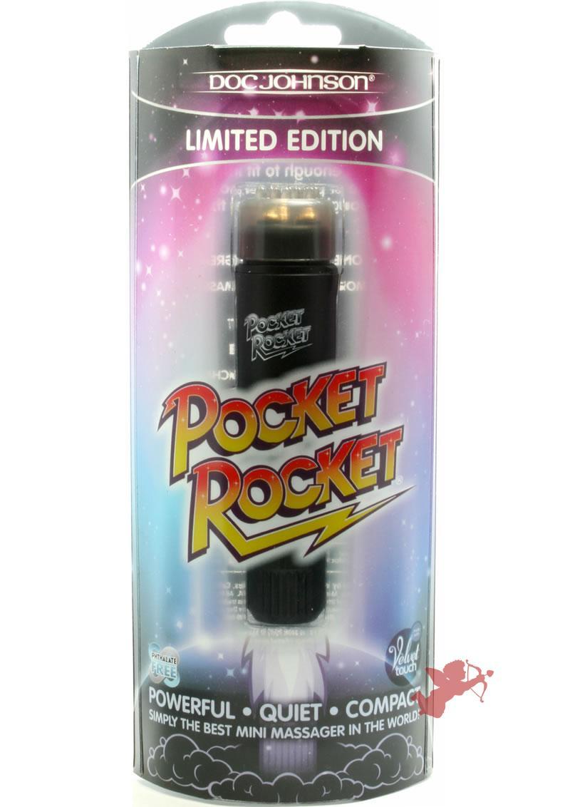 Pocket Rocket Limited Edition Mini Massager Velvet Touch Black