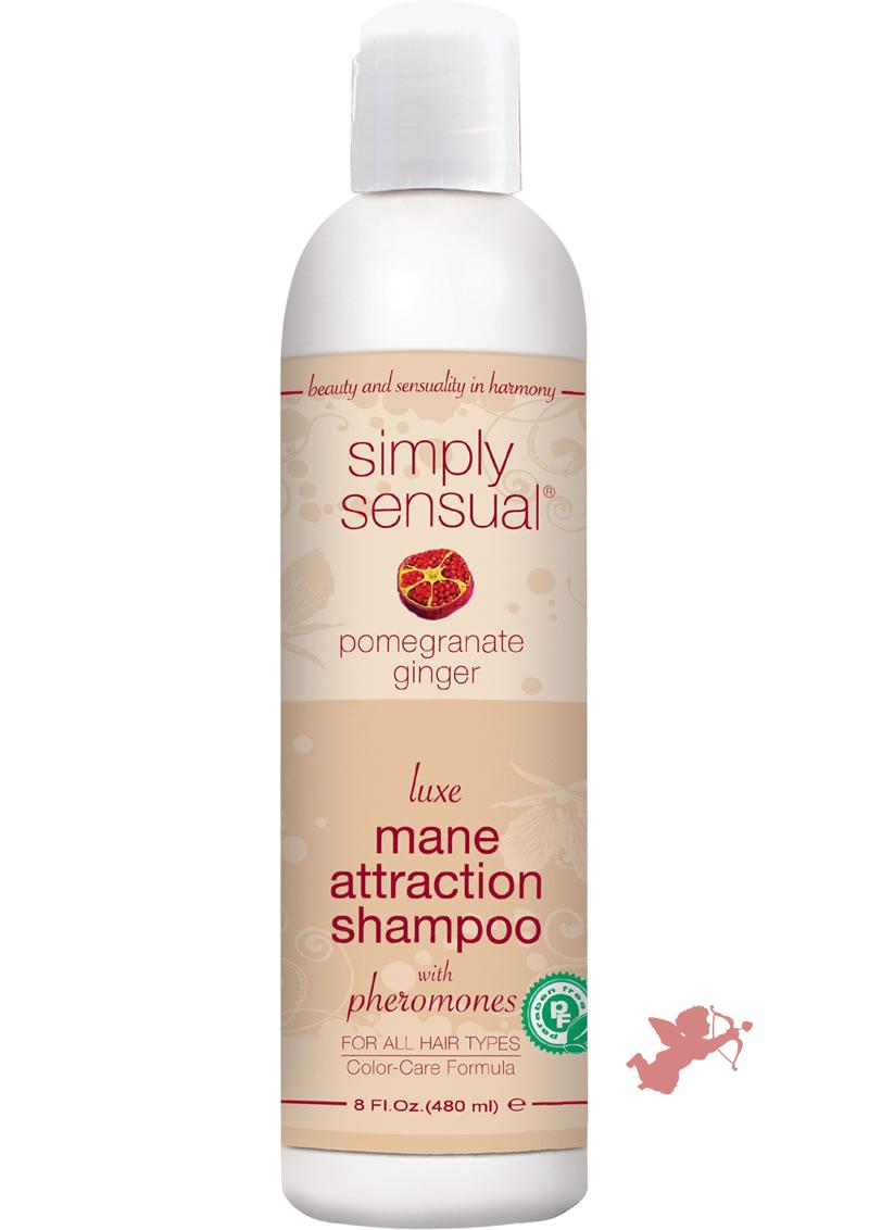 Simply Sensual Luxe Mane Attraction Shampoo With Pheromones Pomegranate Ginger 8 Ounce