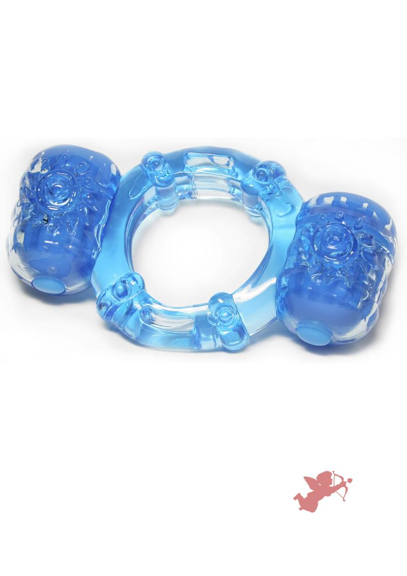 Hero Super Stud Partners Pleasure Ring XL Stretchy Silicone Ring Blue