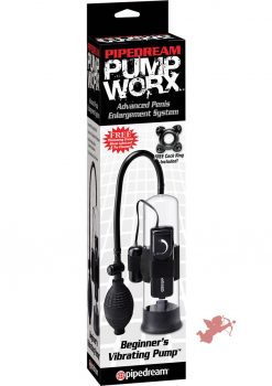 Pump Worx Beginners Vibrating Pump With Cock Ring Clear