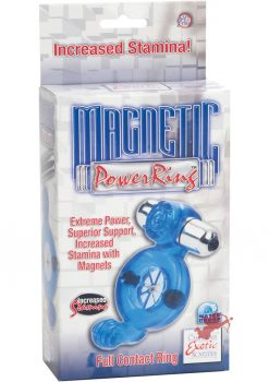 Magnetic Power Ring Full Contact Ring With Magnets And Removable 3 Speed Bullet Blue