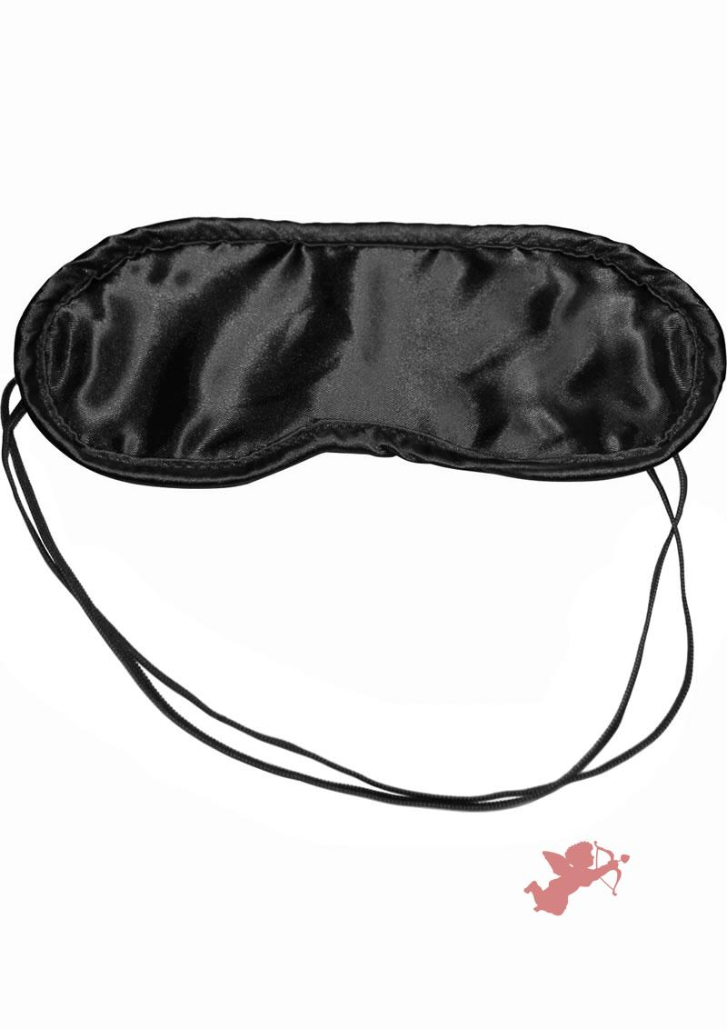 Sex Mischief Satin Blindfold - Black