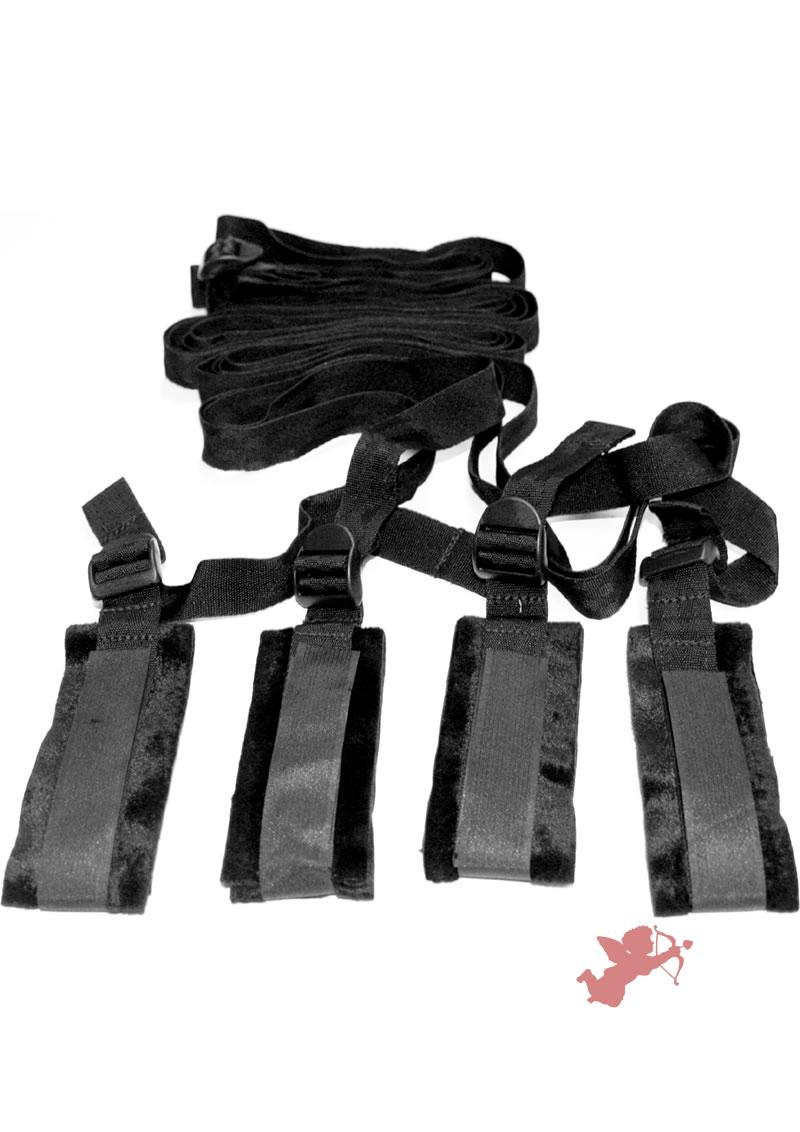 Sex Mischief Bed Bondage Restraint Kit