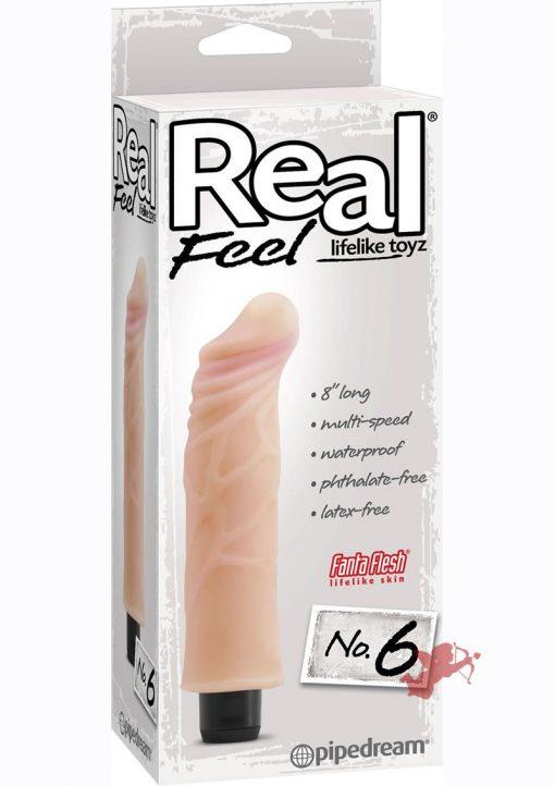 Real Feel No 06 Vibrator Waterproof 7.5 Inch Flesh