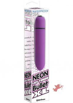 Neon Luv Touch Bullet XL Waterproof 3.25 Inch  Purple
