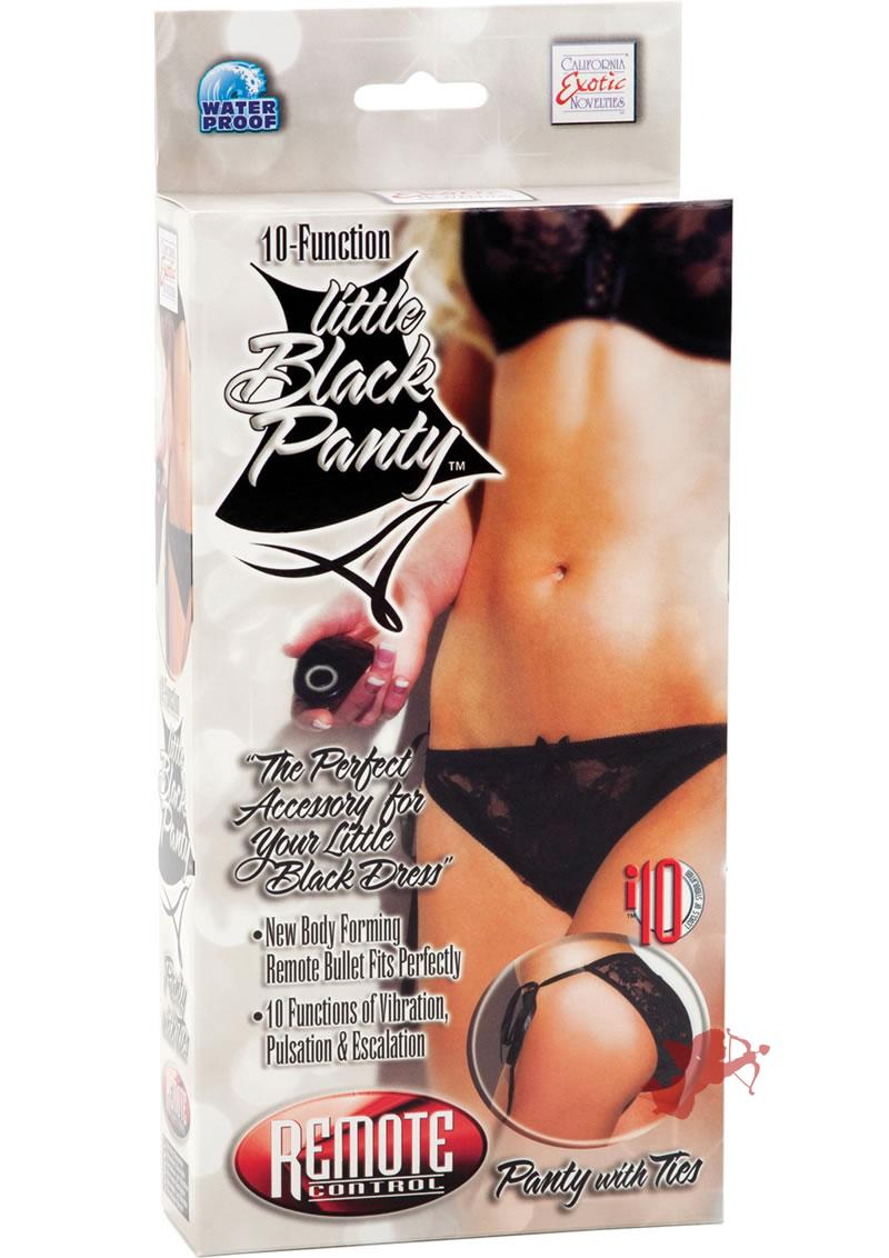 Little Black Panty Panty With Ties Remote Control Waterproof Black