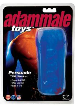 Adammale Persuade T P R Stroker Waterproof Blue