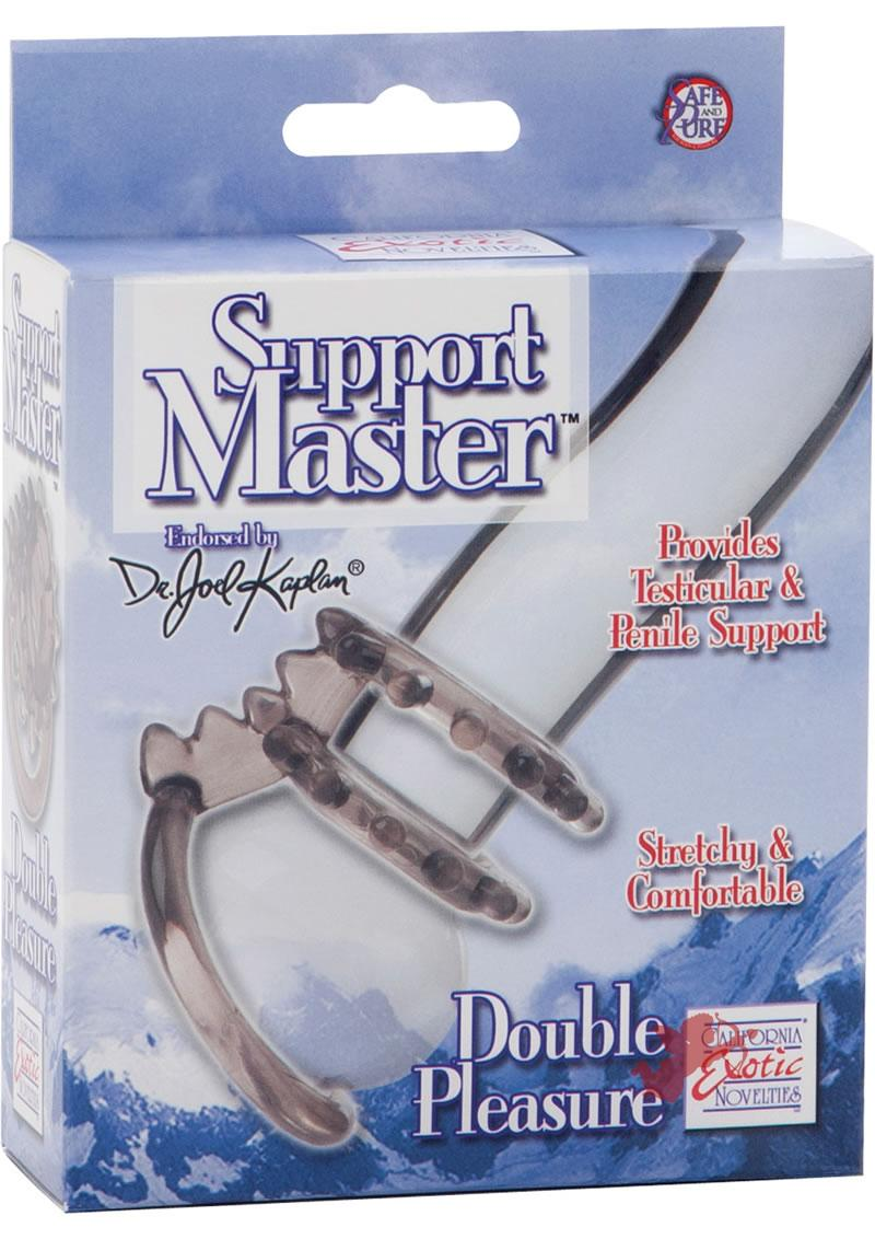 Dr Joel Kaplan Support Master Double Pleasure Cock Ring Smoke