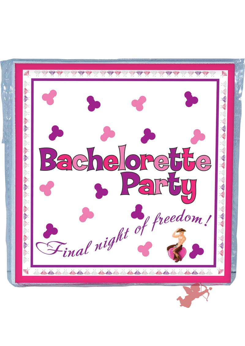 Bachelorette Party Trivia Napkins 10 Pack