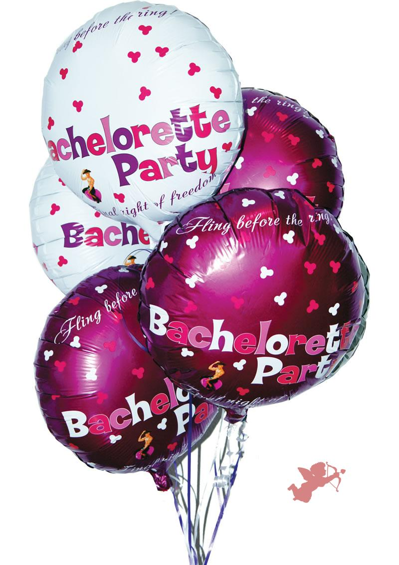 Bachelorette Party Foil Balloons 9 Pack
