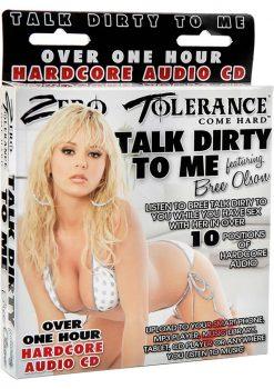 Zero Tolerance Talk Dirty To Me Bree Olsen Audio CD
