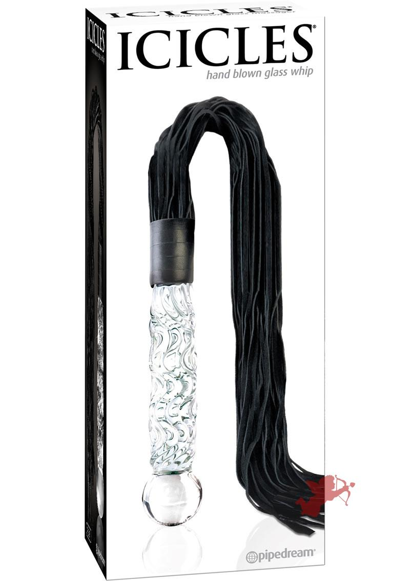 Icicles 38 Hand Blown Glass Whip