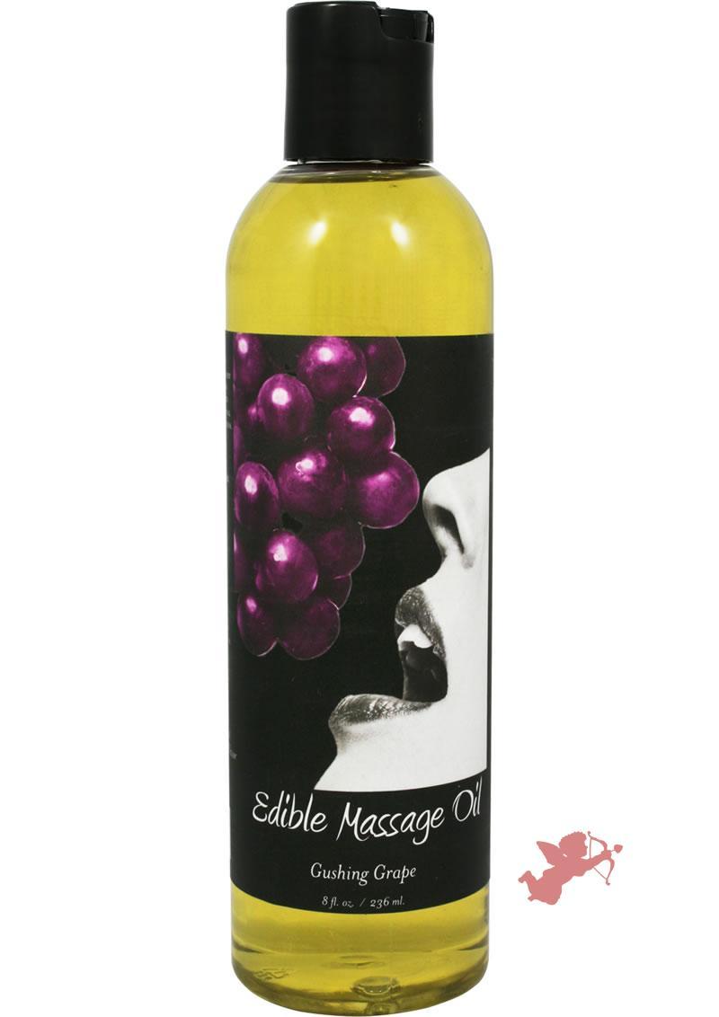 Edible Massage Oil Gusing Grape 8 Ounce