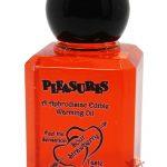 Pleasures Aphrodisiac Edible Warming Oil Sour Strawberry 1oz