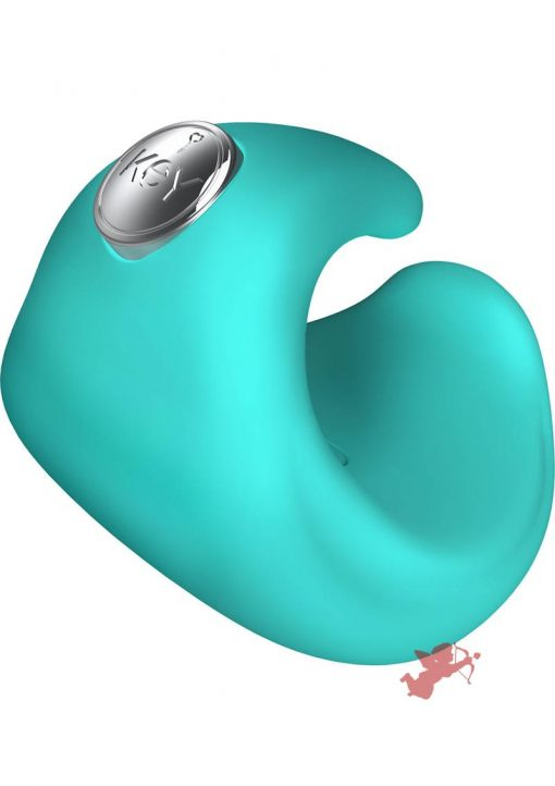Key Pyxis Silicone Finger Massager Waterproof Robin Blue