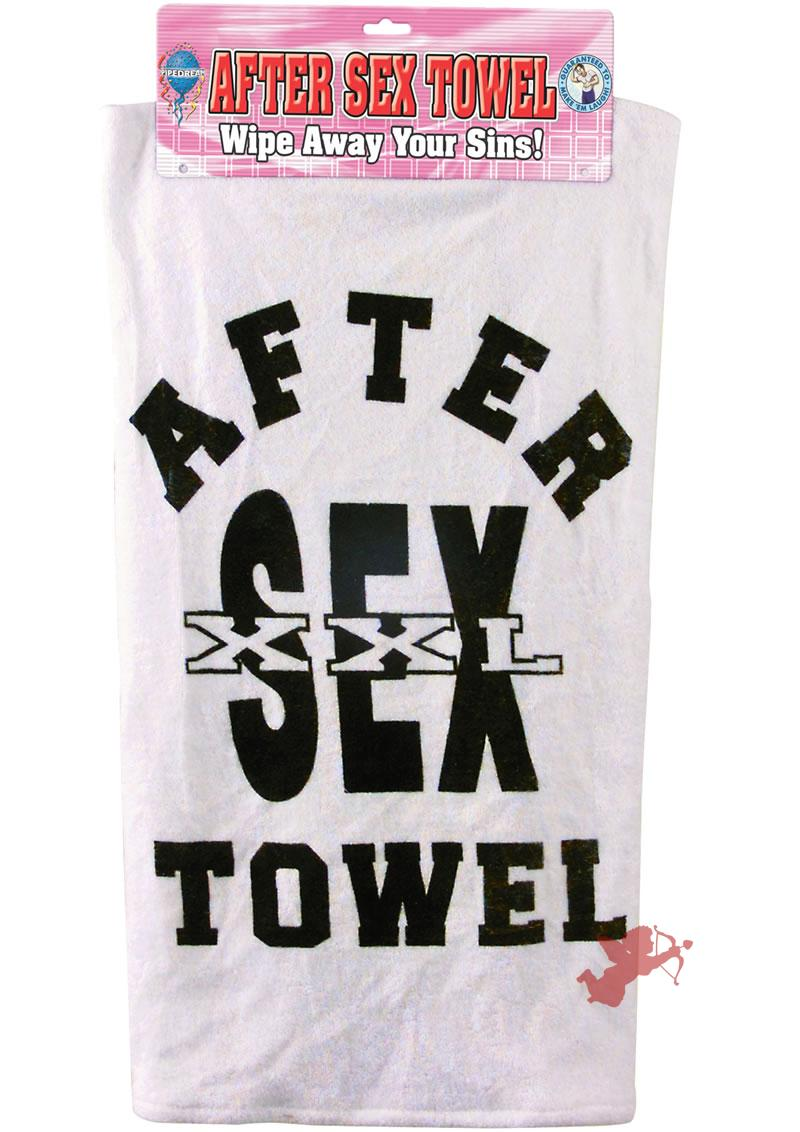 After Sex Towel W/header Card