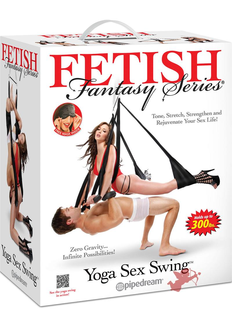 Fetish Fantasy Yoga Sex Swing Black