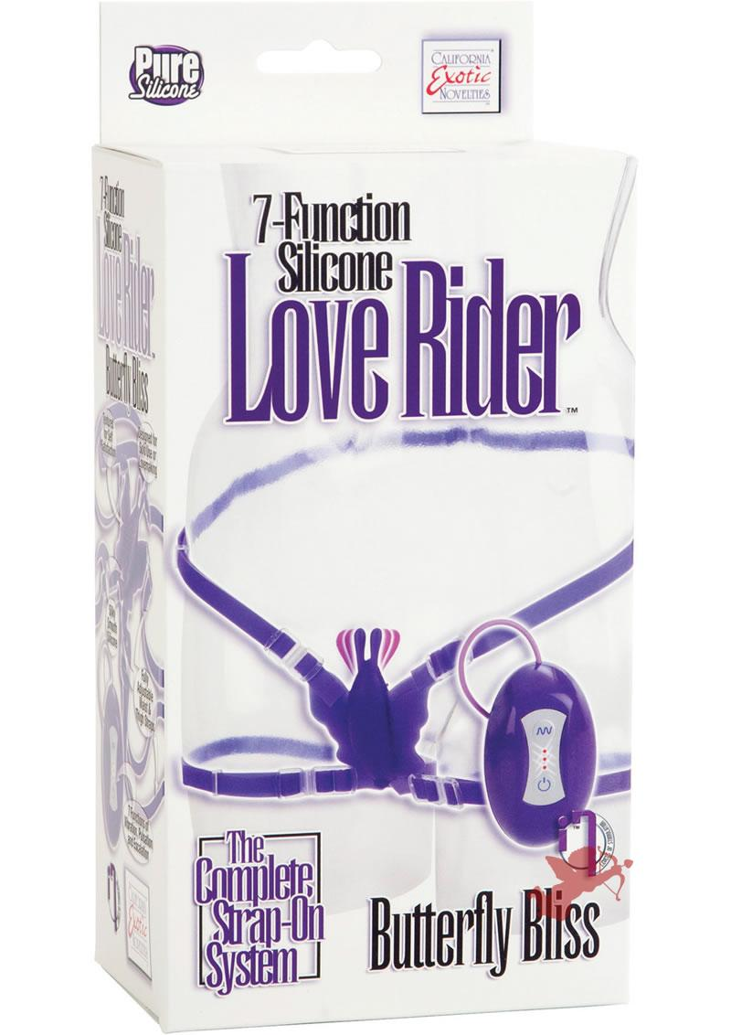 7 Function Silicone Love Ride Butterfly Purple