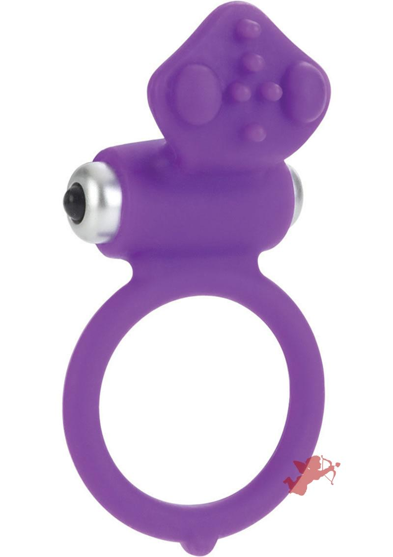 Body And Soul Affection Silicone Cockring Waterproof Purple 1.5 Inch Diameter