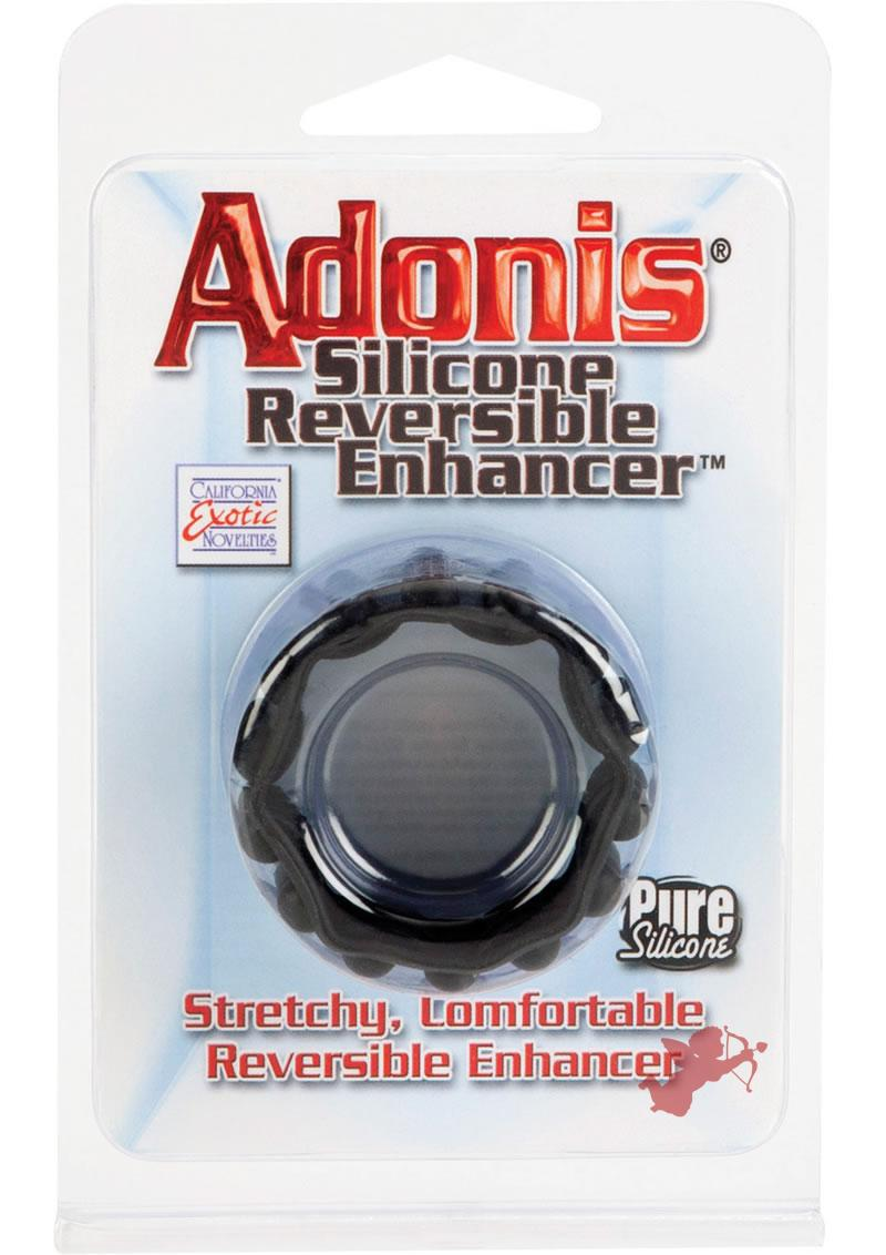 Adonis Silicone Reversible Enhancer Cockring Black