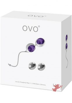 Ovo L1 Silicone Love Balls Waterproof White And Lilac