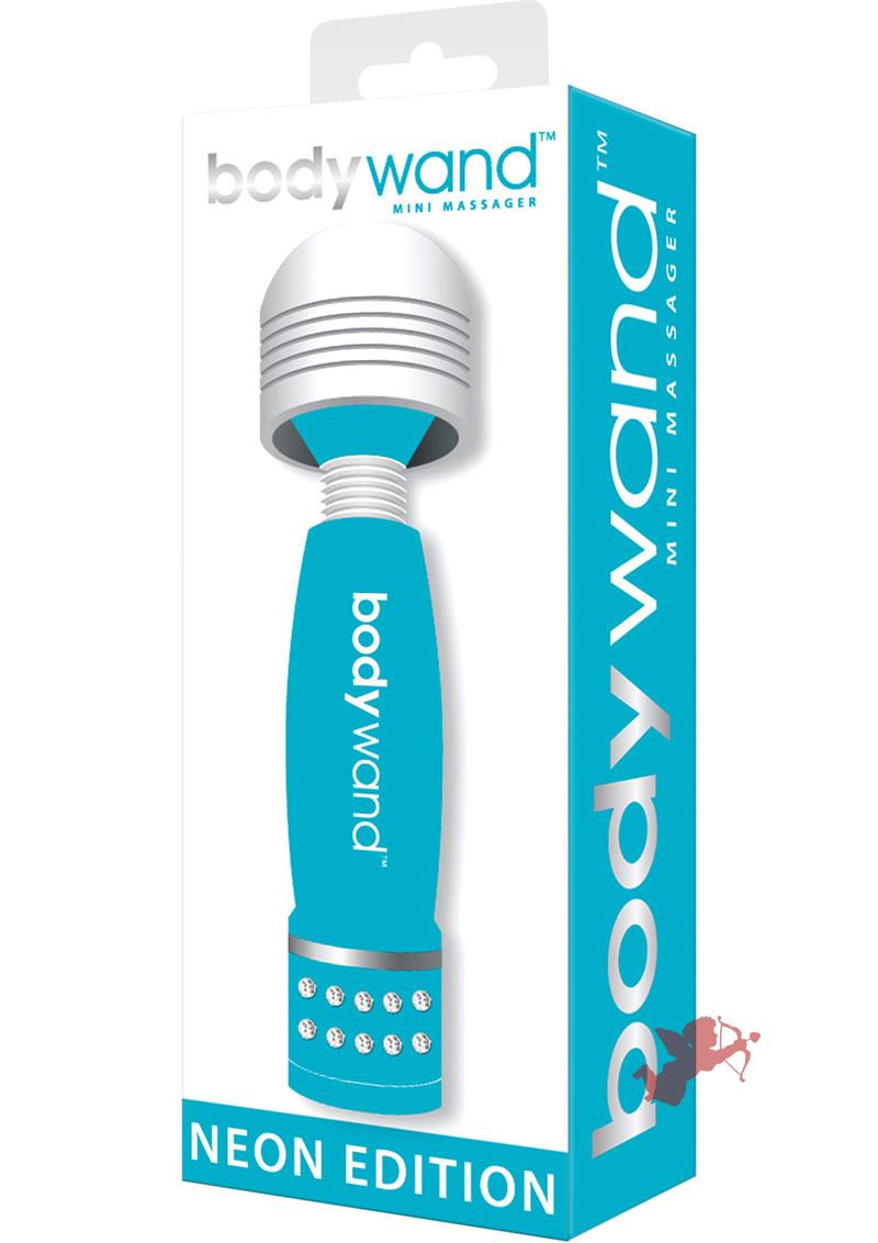 Bodywand Neon Edition Mini Massager Blue 4 Inch
