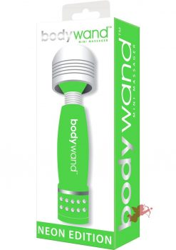 Bodywand Neon Edition Mini Massager Green 4 Inch