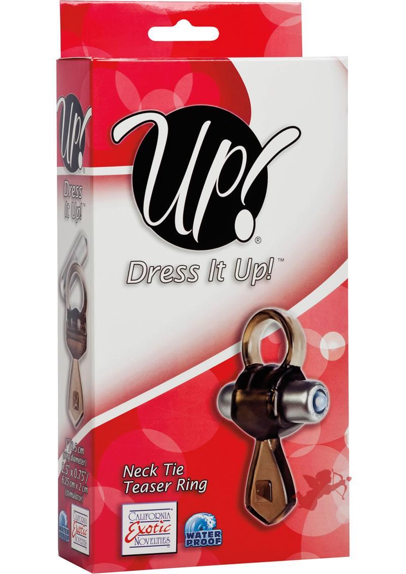 Up Dress It Up Neck Tie Teaser Ring Cockring Waterproof Smoke
