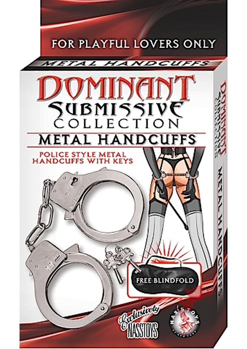 Dominant Submissive Collection Metal Handcuffs